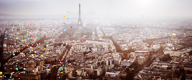 David Drebin, 'Balloons Over Paris', 2016, Isabella Garrucho Fine Art