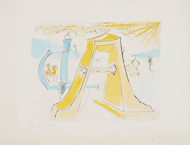 Salvador Dalí, 'A.D., Hommage à Dürer', 1971, Phillips