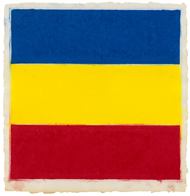 , 'Colored Paper Image XVI (Blue/Yellow/Red),' 1976, Susan Sheehan Gallery
