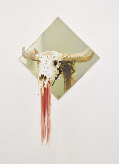 , 'Untitled [Ox Head; The Living Need Light, The Dead Need Music],' 2014, James Cohan