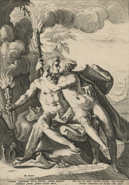 , 'Requited Love Represented by Eros and Anteros [After Hendrick Goltzius],' ca. 1588, Childs Gallery