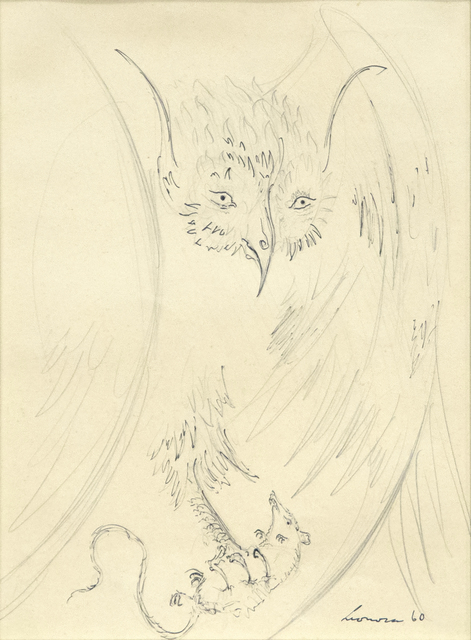 Leonora Carrington, 'Owl with Prey', 1960, Heather James Fine Art