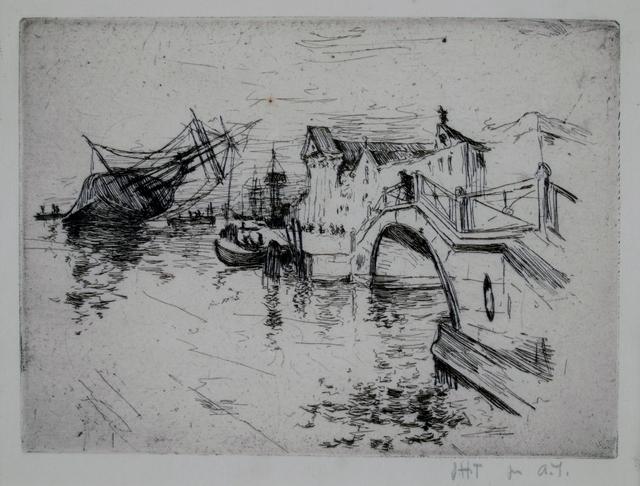 John Henry Twachtman, 'Zattere, Venice', 1880, Private Collection, NY