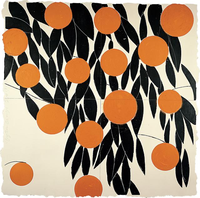 Donald Sultan, 'Fifteen Oranges, 17 September 1992', 1992, Huxley-Parlour