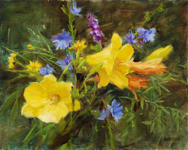 , 'Vermont Wildflowers with Lilies,' 2019, The Galleries at Salmagundi