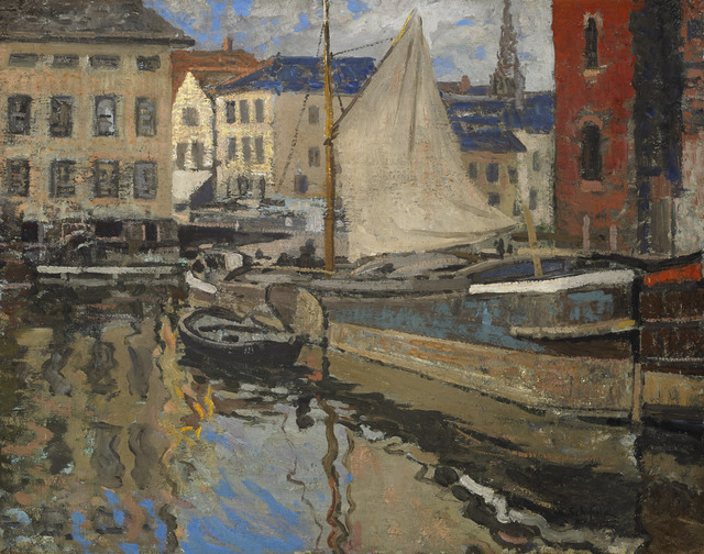, 'On the Canal, Bruges,' 1908, Avery Galleries
