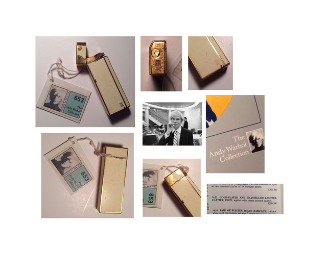 "Andy Warhol, '""Andy's Cartier Lighter""', ca. 1980, Sculpture, Gold filled, and enameled, VINCE fine arts/ephemera"