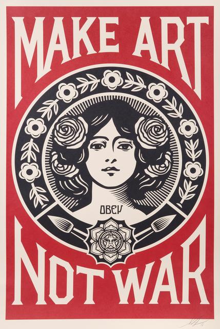 Shepard Fairey (OBEY), 'Make Art Not War', 2016, Julien's Auctions