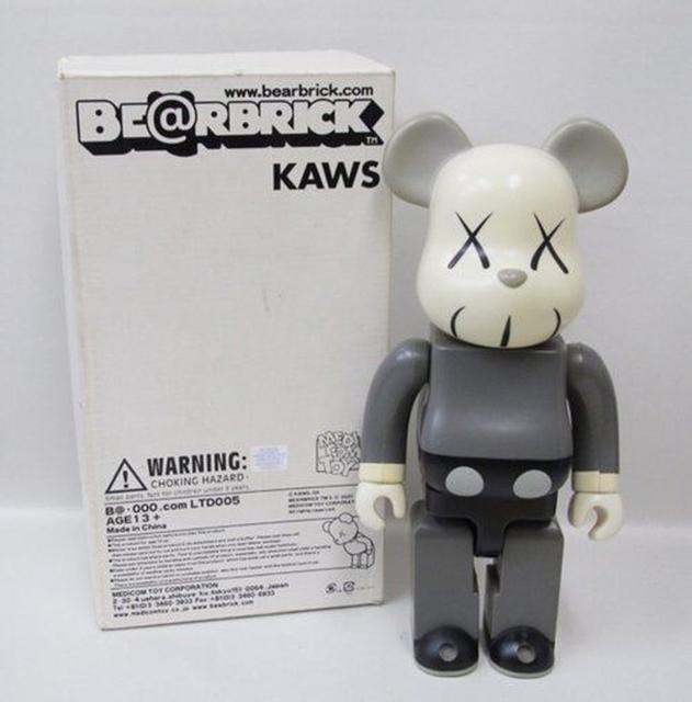 KAWS, '400% Gray Bearbrick', 2002, Sculpture, Plastic, EHC Fine Art Gallery Auction