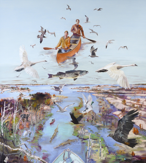 John Hartman, 'High Water at the Big River', 2020, Painting, Oil on linen, Nicholas Metivier Gallery