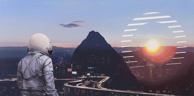 , 'Sun Sets On The City,' 2018, Spoke Art