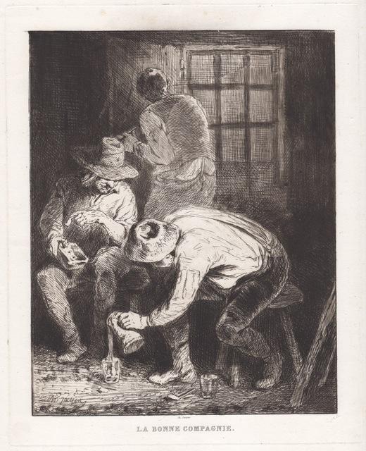 Jacques Charles, 'La Bonne Compagnie', 1850-1880, Hans den Hollander Prints