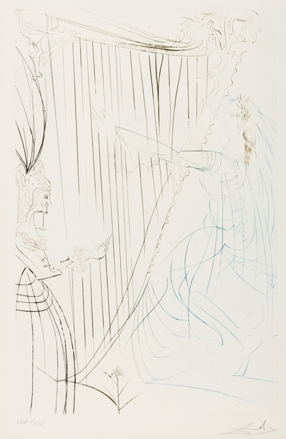 Salvador Dalí, 'La Reine Iseult et sa Fille (from Tristan et Iseult) (M&L 409b; Field 70-10-D)', 1970, Forum Auctions