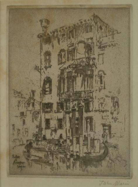John Marin (1870-1953), 'Sistiere Dorsoduro, Venice', 1907, Private Collection, NY
