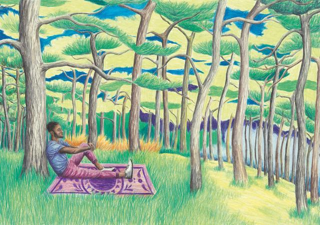 , 'Cedric on a hill,' 2018, Kolja Kramer Fine Arts