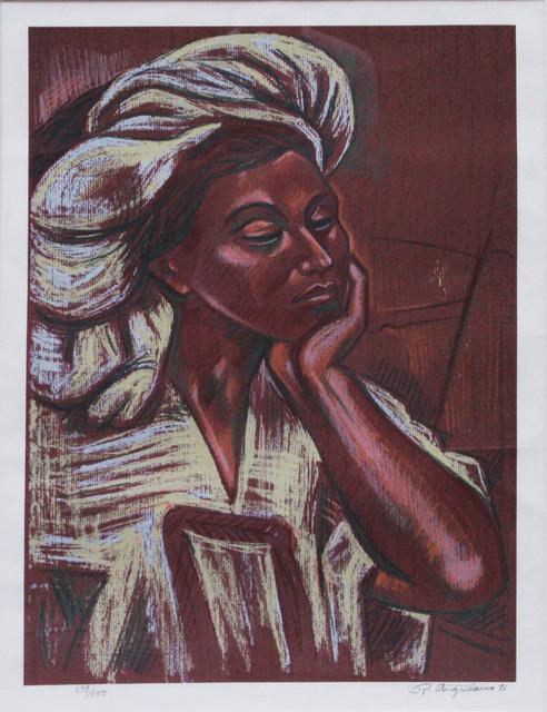 , 'Sin título (Retrato de mujer),' 1991, Oscar Roman