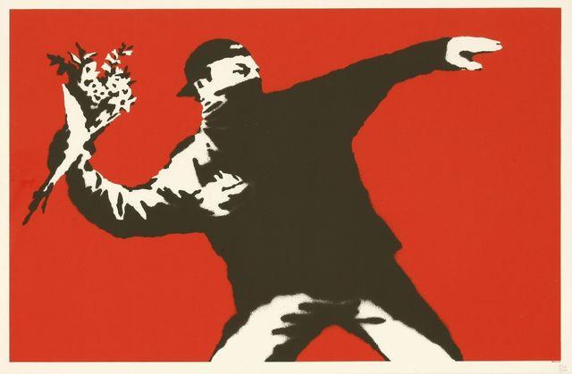 Banksy, 'Love Is In The Air', 2003, Sworders