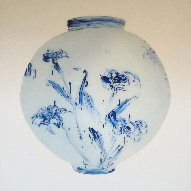 , 'Blue Chrysanthemum Moon Jar #1,' 2012, KANG CONTEMPORARY