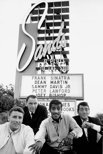 Bob Willoughby, 'Rat Pack in Front of the Sands Hotel', White Cross