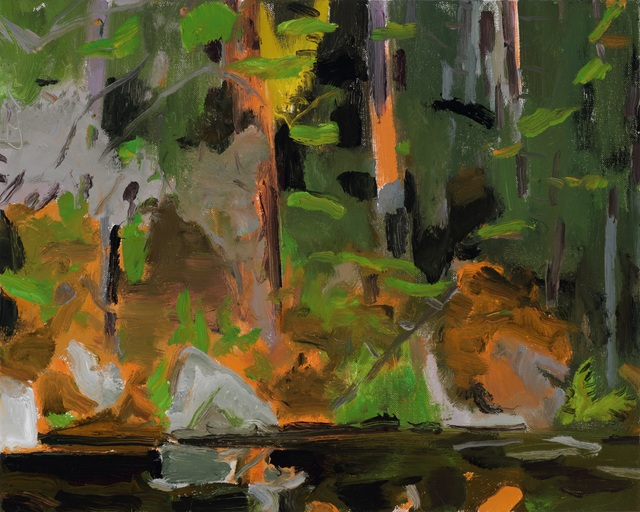, 'Orange Embankment,' 2019, Tayloe Piggott Gallery