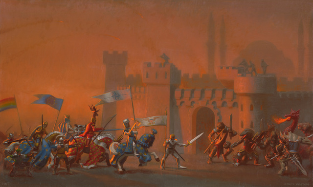 , 'The Crusaders Entering Constantinople,' 2015, CK Contemporary