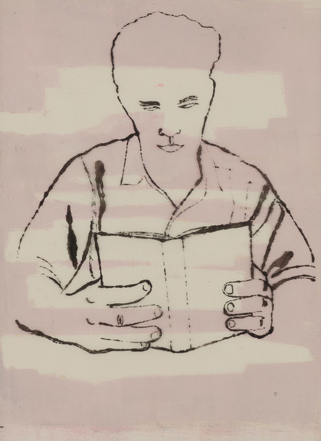 Andy Warhol, 'Man Reading', 1950-51, Doyle