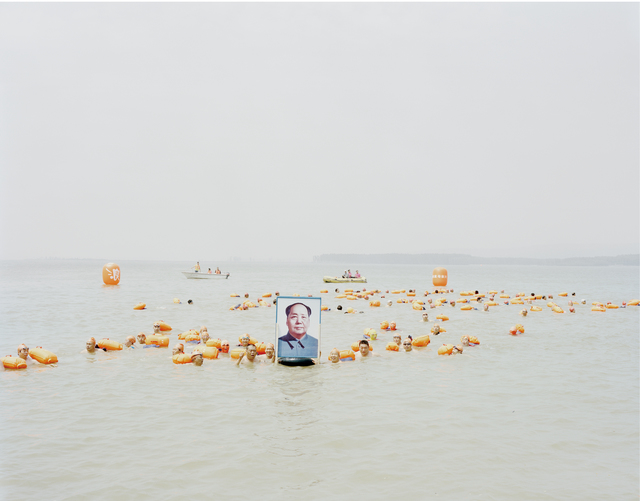 , 'People Crossing the Yellow River with a Photo of Mao Zedong, Henan,' 2012, Beetles + Huxley