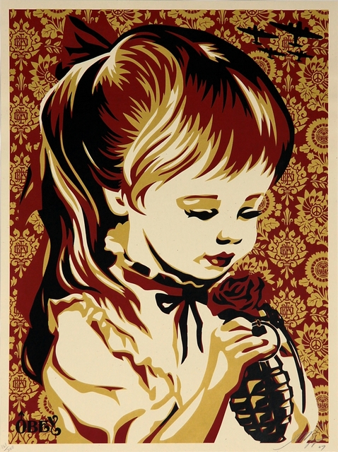 Shepard Fairey, 'War by Numbers (Red)', 2007, Addicted Art Gallery