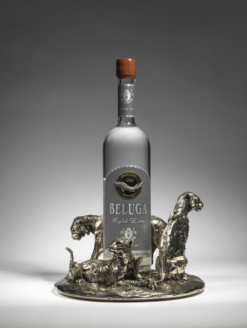 Mark Coreth, '16. Three Tigers, bottle holder', 2019, Sculpture, Nickel bronze, Sladmore