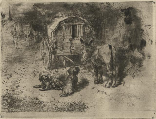 , 'Les Gardiens du Logis ou Les Amis Du Saltimbanque,' 1876, Childs Gallery