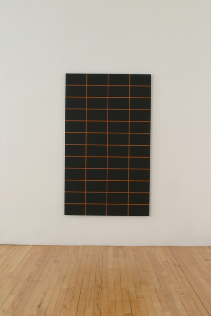 , 'Orange Grid,' 2006, Galerie Christian Lethert