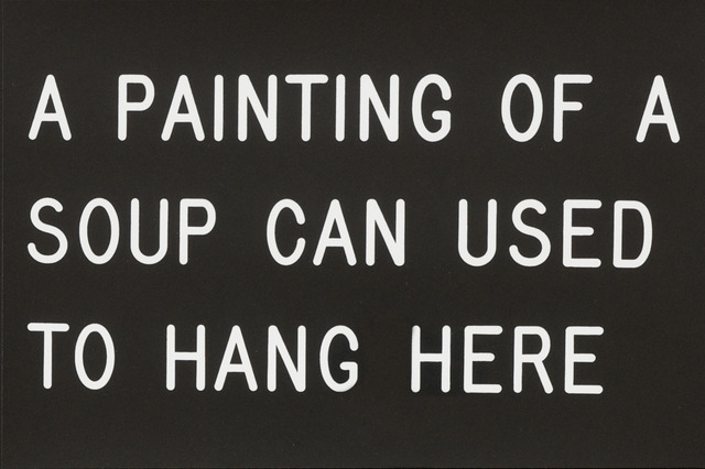 William Anastasi, 'A Painting of a Soup Can Used to Hang Here', 1991, Bentley Gallery