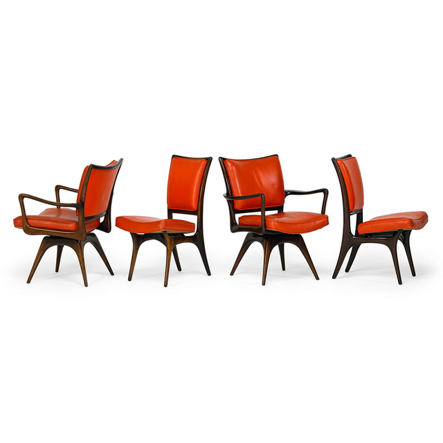 Vladimir Kagan, 'Four Chairs, Two Arm, Two Side, New York', 1950s, Rago/Wright