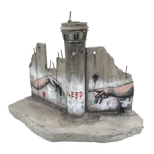 Banksy, 'Walled Off Hotel - Eight Part Souvenir Wall Section With Watch Tower', Tate Ward Auctions