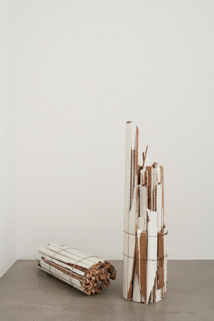 Fernanda Gomes Untitled, 2016 Wood, paint, nail, iron, rope 46,9 x 11ø in / 38,2 x 10,6ø in