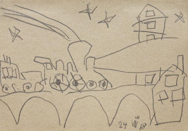 , '(Train),' 1918, Moeller Fine Art