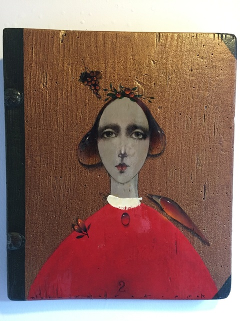 , 'Lady with grapes in red ,' 2017, Galeri Selvin