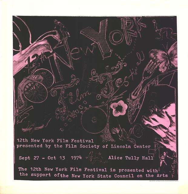 Jean Tinguely, '12th New York Film Festival', 1974, ArtWise