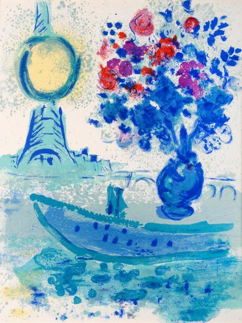 Marc Chagall, 'Bateau-Mouche au Bouquet', 1960, Print, Colour lithograph, Odon Wagner Gallery