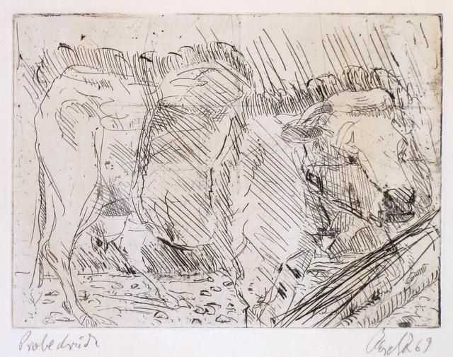 , 'Kuh Mit Baumstammen,' 1969, Gallery Neptune & Brown