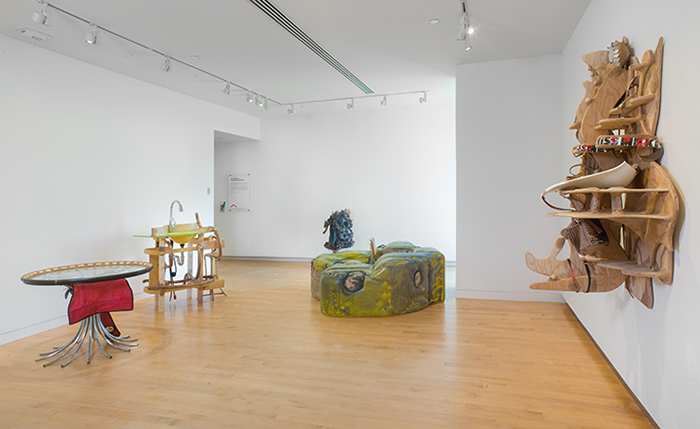 Jessi Reaves: Kitchen Arrangement (installation view), May 20, 2018 to January 13, 2019. The Aldrich Contemporary Art Museum, Ridgefield, CT. Photo: Jason Mandella.