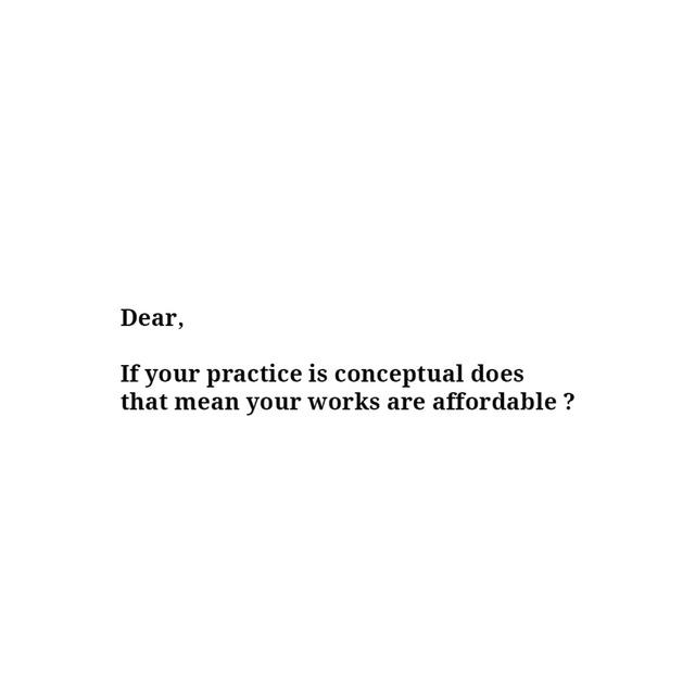 , 'Conceptual Affordable,' , Sabrina Amrani