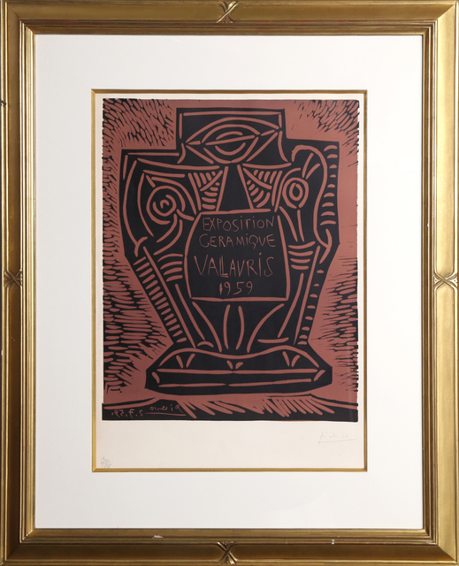 Pablo Picasso, 'Exposition Ceramique, Vallauris 1959', 1959, Print, Linocut in Two Colors on Arches watermarked paper, RoGallery