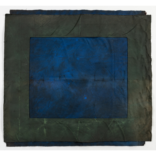 André Valensi, 'Toile double bleu-vert', 1992, PIASA