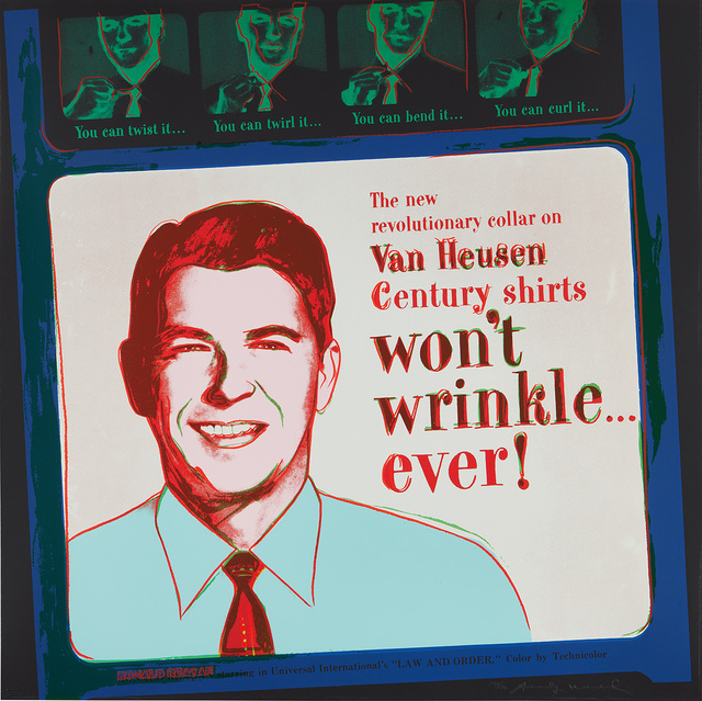 Andy Warhol, 'Van Heusen (Ronald Reagan), from Ads', 1985, Phillips