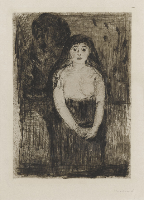 Edvard Munch, 'Modellstudie (Study of a Model)', 1894, John Szoke