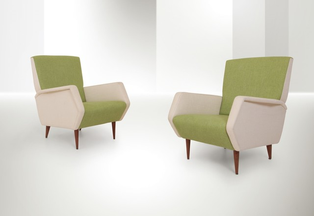 Gio Ponti, 'mod. 806 armchairs, Cassina', 1954, Cambi