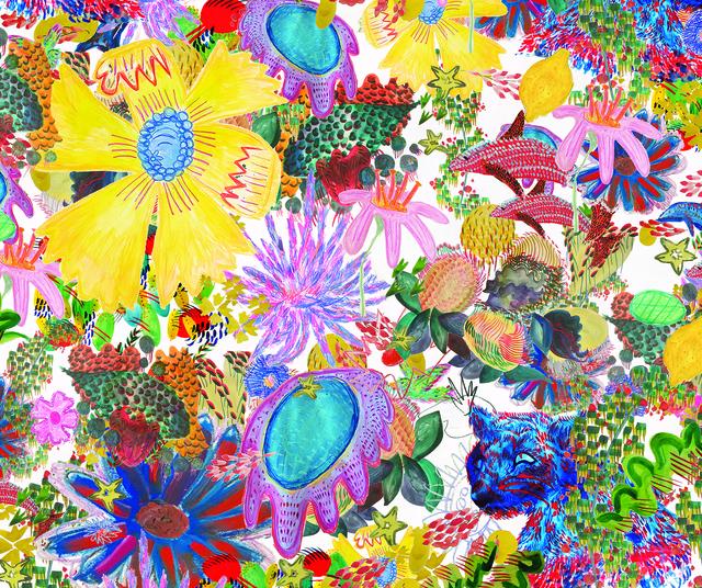 , 'Young Lemon print for wallpaper and curtains,' 2015, Nina Johnson