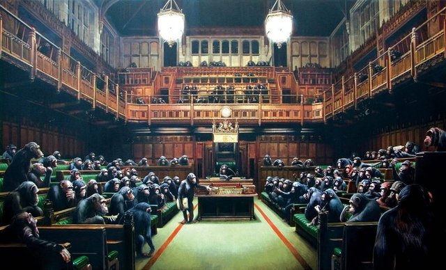 Banksy, 'Monkey Parliament', 2009, The Drang Gallery