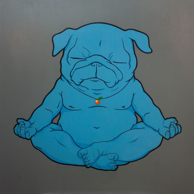, 'Big Meditator (Grey, Buddha, Pug),' 2017, Lomaka Gallery